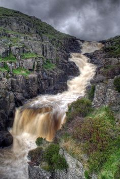 Cauldron Snout, Teesdale. Without doubt, the best named waterfall in the land