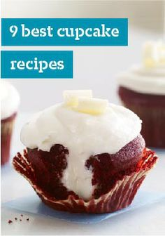 9 Best Cupcake Recipes – Discover the best cupcake recipes, including red velvet with delicious PHILADELPHIA Cream cheese, lemon cupcakes, chocolate cupcakes and more cupcake recipes.