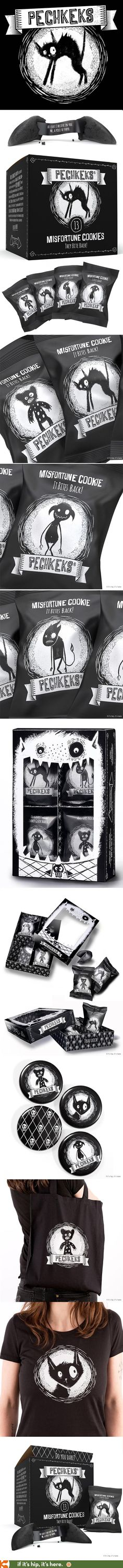 Dark Cookies with a Dark Sense of Humor (and Great Branding and Package Design)