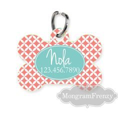 Pet ID Tag Pet Tag Dog Personalized Pet Tag  by MonogramFrenzy, $8.99