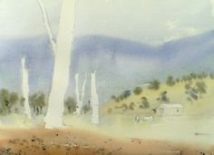 Watercolor Painting Landscape under painting