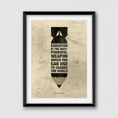The most powerful weapon II. Printable by Cartelmania on Etsy