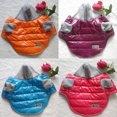 puppy dog clothes Picture - More Detailed Picture about Winter Warm Pet Dog Jacket Coat Thickening Puppy Dog Clothes With Hoodies Clothing For Small Dogs Apparel 5 Colors Size XS XXL Picture in Dog Coats & Jackets from Sea Amoy Technology Co. Big Dogs, Small Dogs, Dogs And Puppies, Pinterest Cute, Diy Dog Collar, Dog Clothes Patterns, Pet Fashion, Dog Jacket, Dog Sweaters