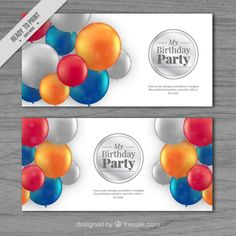 Birthday Invitations that I have designed for #Freepik #Birthday #BirthdayInvitation #BirthdayParty #Party #Balloon #Balloons #Silver #GraphicDesign #GDesign #Design #Vector #Illustration #Flyer #ElegantDesign