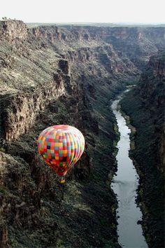 Taos New Mexico over the Rio Grande Gorge, United States.