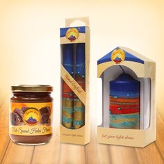 Here is the best gift offer only for you! Star Nazareth Secret Halva-Flavored Date #Spread with #handmade Taper and Pillar #candles!