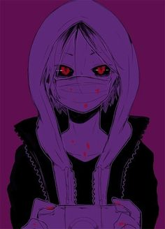 Anime horror. It pretty cool to say with her red and black eyes. Almost as a ghoul looking.
