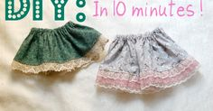 This baby skirt tutorial is so easy peasy you will probably make 10 in one day just because you can. Ready to get started? Here w...
