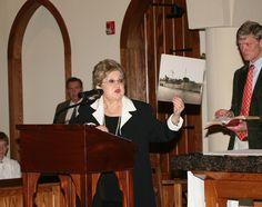 Holocaust survivor Charlene Schiff addressed the students in St. Joseph's Chapel. (November 2011)