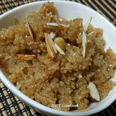 Everyone's all time favourite Lapsi is a very quick and easy dessert to make. It is also known as sweet dalia or cracked wheat halwa. It is made on auspicious occasions. My kids loved it and …