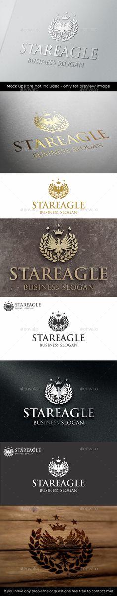 Royal Eagle Star Logo Template #design #logotype Download: http://graphicriver.net/item/royal-eagle-star-logo/11281216?ref=ksioks