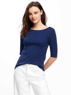 Classic Ballet Back Tee for Women $15.00 Old Navy