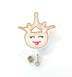 Vivian Vertebrae - Orthopedic Gift - Spine Clinic Felt Badge Reels - Cute Retractable Name Badge Holders - Organ Badge Pulls - BadgeBlooms by BadgeBlooms on Etsy https://www.etsy.com/listing/267831375/vivian-vertebrae-orthopedic-gift-spine