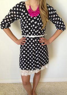 Celebration Polka Dot Tunic Dress