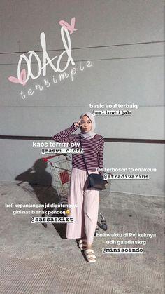 Modern Hijab Fashion, Street Hijab Fashion, Hijab Fashion Inspiration, Muslim Fashion, Fashion Outfits, Women's Fashion, Casual Hijab Outfit, Ootd Hijab, Hijab Chic