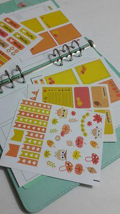 Fall planner sticker kit