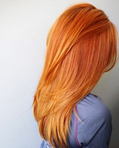 Eye-catching orange hairstyles!
