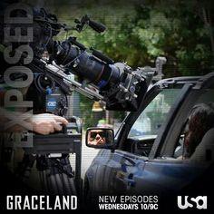Vanessa Ferlito behind-the-scenes of #GracelandTV. ♥ ;)