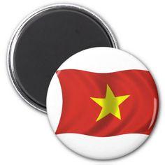Shop Flag of Vietnam Magnet created by dkessaris.
