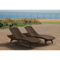 Keter 2-Pack Adjustable Chaise Lounge All-weather Outdoor Furniture, Brown - Sam's Club