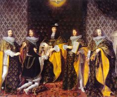 """Champene, """"Louis XIV after coronation takes an oath from his brother"""", by June Louis Xiv, Bourbon, French History, Art History, Versailles, Duc D'anjou, Philippe De Champaigne, Ludwig Xiv, Royals"""