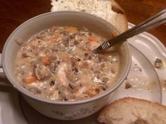 Keeping up with The Sonneks ♥: * A Chilly Night...Wild rice soup in a crockpot.
