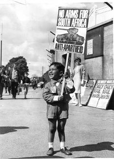 This young anti-apartheid supporter was asking cricket fans to support an arms embargo against South Africa outside the St Helen's cricket ground in Swansea in August Inside the ground the all-white South African cricket team was playing Feminist Movies, Maila, Apartheid, African American History, Historical Photos, Black History, South Africa, Freedom, Archive