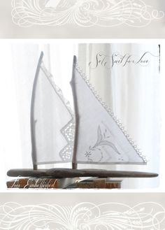 Large Pair Driftwood Beach Decor Sailboats by LoveEmbellished, $24.00