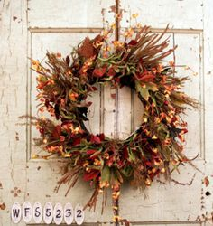 Harvest Meadows Autumn Door Wreath
