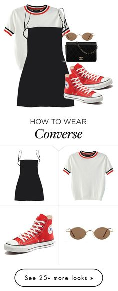 """Sans titre #924"" by el-khawla on Polyvore featuring WithChic and Converse"