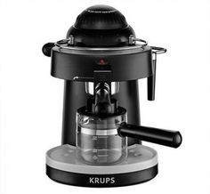 Cafeteira Krups XP100050 Steam Espresso Machine with Frothing Nozzle for Cappuccino, Black #Cafeteira #Krups