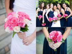 Navy and Pink Wedding Ideas | ... Fun Summer Wedding}: A Palette of Fuchsia, Light Pink & Navy Blue