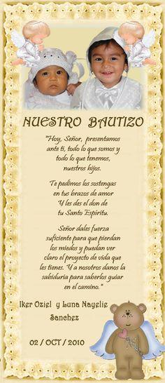 Frases Para Invitaciones De Bautizo | ... bautizos dobles cuando se tiene mas de un hijo de una edad similar
