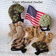 "Ravelry: Baby Combat Boots ""Little ComBrat Combat Boots"" pattern ..."