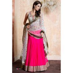 Bollywood Replica - Designer Georgette Pink Lehenga Choli - EBSFLC234017