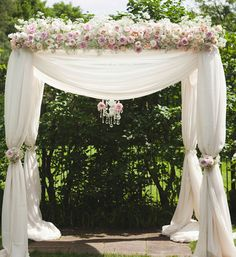 Wedding Arch Decorations | Stylish Ivory Blush Pink wedding Ceremony Arch chuppa Decorations