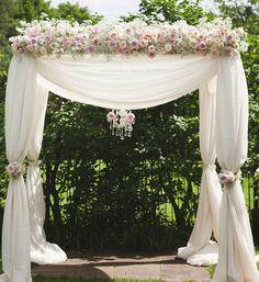 Wedding Arch Decorations | Stylish Ivory Blush Pink wedding Ceremony Arch chuppa Decorations