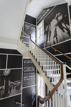 Michael Bierut's stairwell graphics at the Museum of the City of New York.