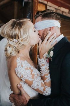 """""""Pre-Wedding Kiss 😘😘😘"""" Tag a future bride who would Love a blind-folded kiss on their big day❤️😉 . Congratulations to 😘 📸… Wedding Kiss, Wedding Bells, Wedding Engagement, Dream Wedding, Wedding Day, Wedding Ceremony, Wedding Scene, Engagement Pics, Church Wedding"""