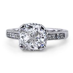 Custom Ring, Adorned Cushion Diamond Ring   WANNNNTTTT!!