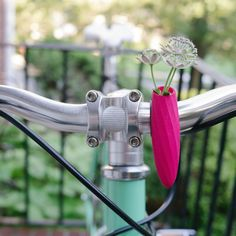 Add a flower vase to your bicycle.