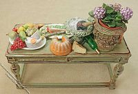 Miniature Green Side Table by Twylla Charles
