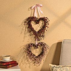 Double Heart Berry Wreath - OrientalTrading.com
