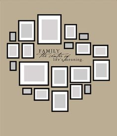 ...Family photo layout