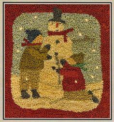 Punch Needle Pattern Parson Brown Snowman Winter Decor, Brenda Gervais, www.farmersattic.etsy.com, $11.99