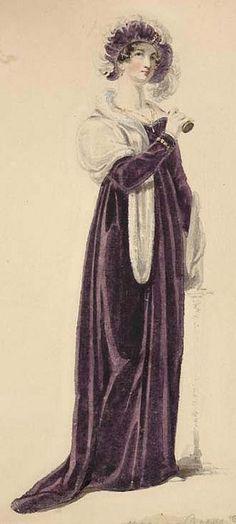 Evening dress 1810 - Ackermann's Repository