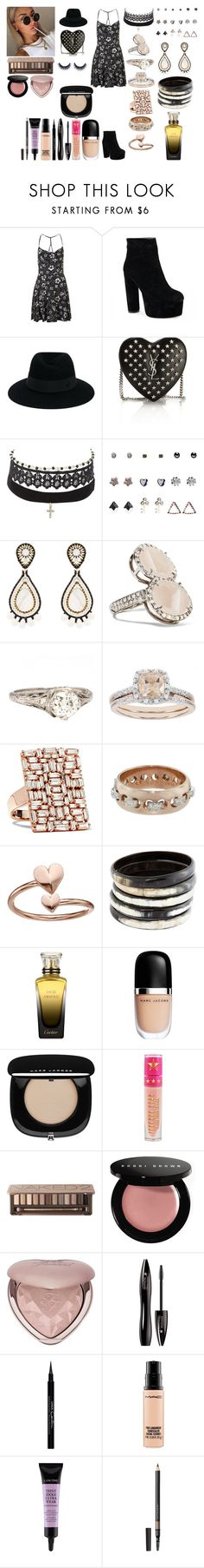 """Untitled #813"" by asiebenthaler ❤ liked on Polyvore featuring Topshop, Maison Michel, Yves Saint Laurent, Charlotte Russe, Wet Seal, Miguel Ases, Kimberly McDonald, Modern Bride, Suzanne Kalan and Sharon Khazzam"