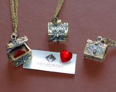 Once Upon A Time necklace heart locket necklace Queen casket heart swarovski..... kinda wierd....
