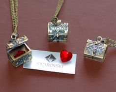 Once Upon A Time necklace heart locket necklace Queen casket heart swarovski..... kinda wierd....