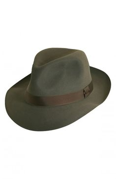 Christys Men's Foldaway Felt Trilby Fedora | Hat and Accessory